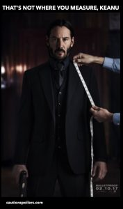 That's not where you measure, Keanu