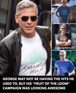 George may not be having the hits he used to but his Fruit of the Loom campaign was looking awesome