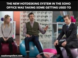 The new hotdesking system in the Soho office was taking some getting used to