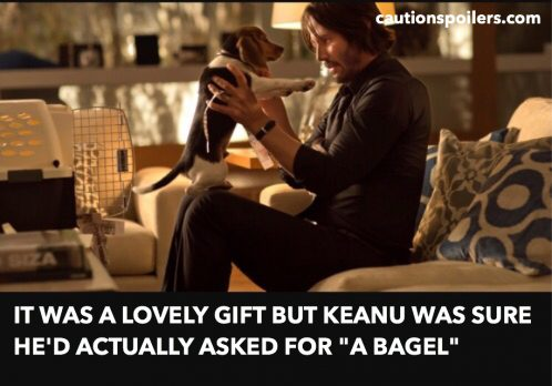"""it was a lovely gift but Keanu was sure he'd actually asked for """"a bagel"""""""