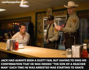 """Jack had always been a Dusty fan but having to sing his confirmation that he was indeed `'the son of a Reacher man"""" each time he was arrested was starting to grate"""