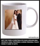 Not for them a Christmas Eve dash around M&S - George and Amal preferred a more personal touch when it came to gifts