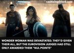"Wonder Woman was devastated. They'd given their all but the Eurovision judges had still only awarded them ""nul points"""