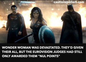 """Wonder Woman was devastated. They'd given their all but the Eurovision judges had still only awarded them """"nul points"""""""