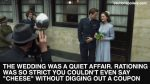 """The wedding was a quiet affair. Rationing was so strict you couldn't even say """"cheese"""" without digging out a coupon"""