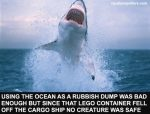 Using the ocean as a rubbish dump was bad enough but since that lego container fell off the cargo ship no creature was safe