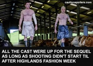 All the cast were up for the sequel as long as shooting didn't start until after Highlands Fashion Week
