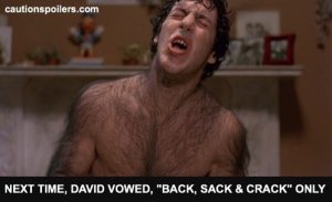 "Next time, David vowed, ""back, sack and crack"" only"