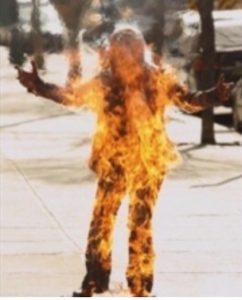 "Jo performing a full ""burn"" (photo: Jo Lamstein)"