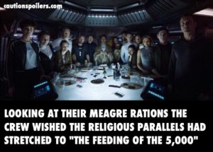 Looking at their meagre rations the crew wished the religious parallels stretched to the feeding of the 5000