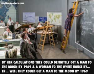 Looking at her calculations they could definitely get a man to the moon by 1969 and a woman to the White House by... er... well they could definitely get a man to the moon by 1969