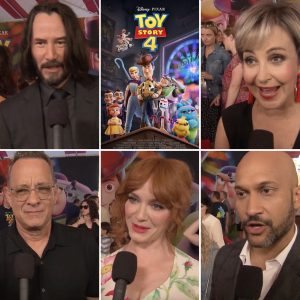 Toy Story 4 premiere cast soundbites (Yes he is. Those who are tired of Keanu are tired of life)