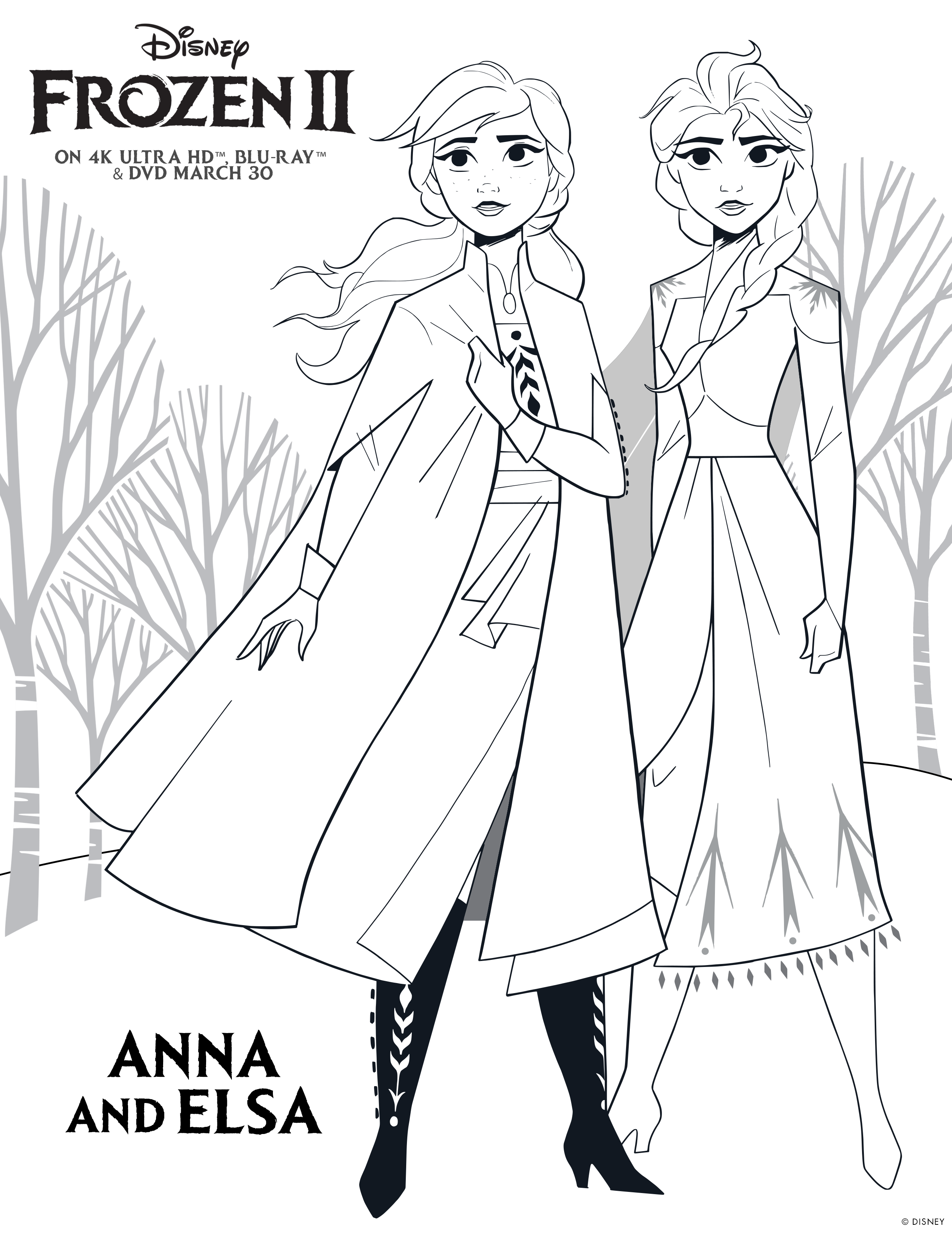 Frozen 2 Activity And Colouring Sheets Caution Spoilers