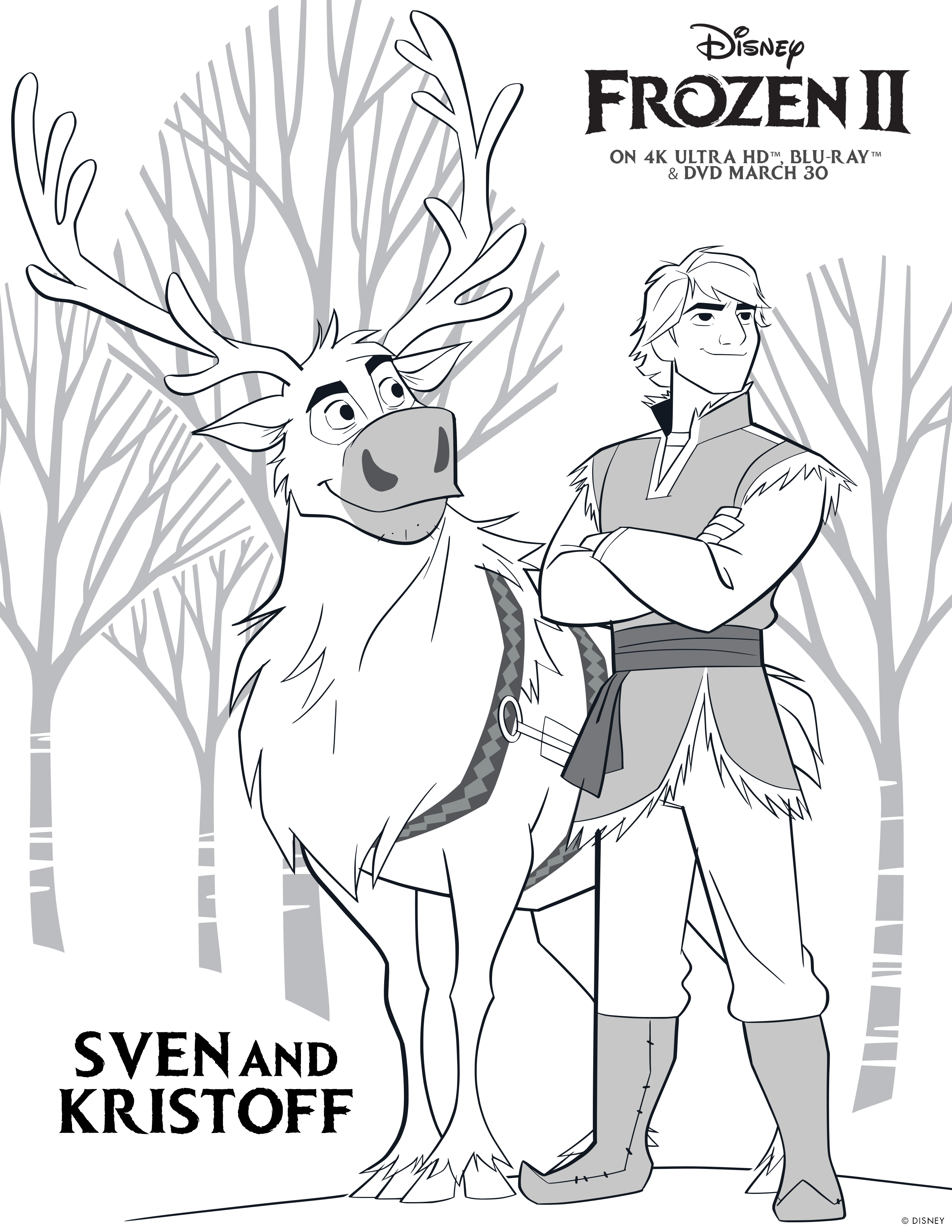 Frozen 2: activity and colouring sheets - Caution Spoilers